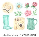Set Of Watercolor Illustrations ...