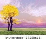 autumn tree | Shutterstock . vector #17260618