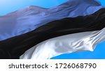 Estonia 3d Flag Waving In Wind...