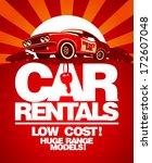 car rentals design template... | Shutterstock .eps vector #172607048
