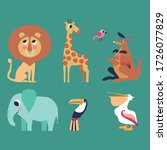 set of south's animals and... | Shutterstock .eps vector #1726077829