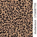 seamless leopard pattern ... | Shutterstock .eps vector #1726087720