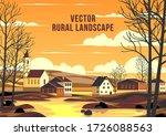 spring rural landscape with... | Shutterstock .eps vector #1726088563