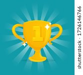gold trophy victory award for... | Shutterstock .eps vector #1726146766