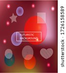 modern blurry smooth background.... | Shutterstock .eps vector #1726158589