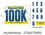 set of numbers for thanks... | Shutterstock .eps vector #1726175650