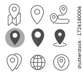 location icon set. flat style.... | Shutterstock .eps vector #1726180006