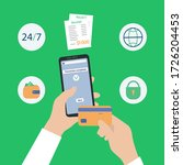 money transaction online... | Shutterstock .eps vector #1726204453