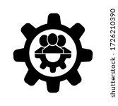 management icon. teamwork... | Shutterstock .eps vector #1726210390