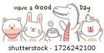 animals in cartoon style on... | Shutterstock .eps vector #1726242100