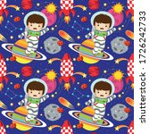 seamless pattern with cute... | Shutterstock .eps vector #1726242733