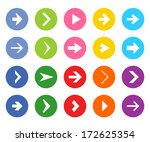 arrow icon set  | Shutterstock .eps vector #172625354