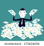 businessman has completed a... | Shutterstock .eps vector #172626056
