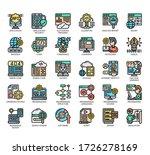 set of programming thin line... | Shutterstock .eps vector #1726278169