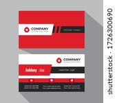 red color business card... | Shutterstock .eps vector #1726300690
