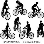 A Set Of Bicycle Cyclists...