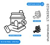 mortgage icons set vector...