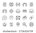 friendship line icons set... | Shutterstock .eps vector #1726326739
