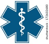 medical symbol of the emergency ... | Shutterstock . vector #172632680