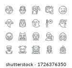 set of fear related vector line ... | Shutterstock .eps vector #1726376350