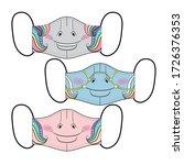 set of designs reusable mouth... | Shutterstock .eps vector #1726376353