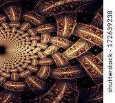 symmetrical fractal flower ... | Shutterstock . vector #172639238