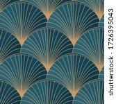 golden elements on blue... | Shutterstock .eps vector #1726395043