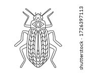 Coloring Page With A Beetle. ...