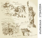 American monuments - hand drawn collection