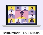 conference video calls  remote... | Shutterstock .eps vector #1726421086