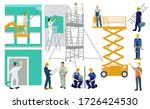 painters and artisans on... | Shutterstock .eps vector #1726424530