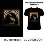 heron vintage style t shirt  ...   Shutterstock .eps vector #1726426009