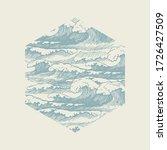 vector banner of hexagonal... | Shutterstock .eps vector #1726427509