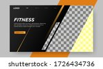 fitness landing page template... | Shutterstock .eps vector #1726434736