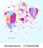 hot air balloon in the sky... | Shutterstock .eps vector #172644248