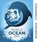 world oceans day banner with... | Shutterstock .eps vector #1726445323