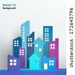 vector design   eps10 building... | Shutterstock .eps vector #172645796