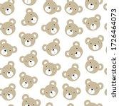 Seamless Pattern Brown Bear...