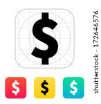 dollar icon. vector...