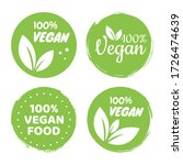 vegan icon set logos and badges ... | Shutterstock .eps vector #1726474639