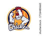 chicken mascot logo... | Shutterstock .eps vector #1726480660