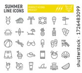 summer line icon set  travel... | Shutterstock .eps vector #1726483099