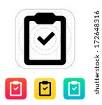 check clipboard icon. vector... | Shutterstock .eps vector #172648316