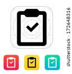 check clipboard icon. vector... | Shutterstock .eps vector #172648316