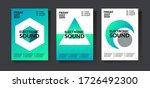 electronic music poster. modern ... | Shutterstock .eps vector #1726492300