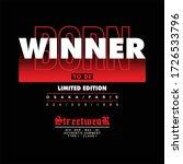 born to be winner limited... | Shutterstock .eps vector #1726533796