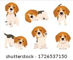 the collection of beagle in... | Shutterstock .eps vector #1726537150