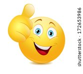 emoticon showing thumb up | Shutterstock .eps vector #172653986