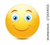 emoticon with big toothy smile | Shutterstock .eps vector #172654010