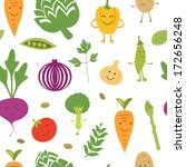 a fun vegetables seamless... | Shutterstock .eps vector #172656248